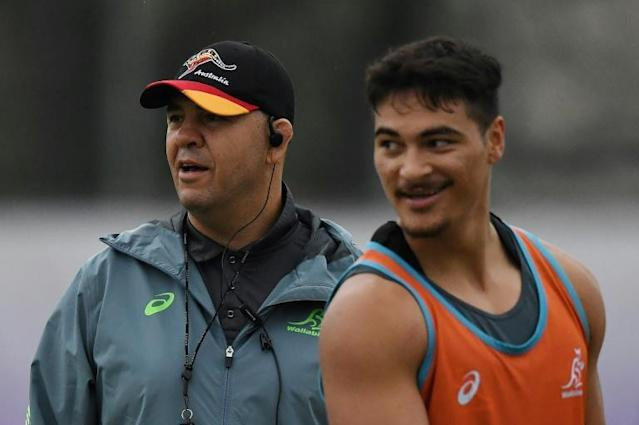 Australia's head coach Michael Cheika has backed full back Jordan Petaia (AFP Photo/CHARLY TRIBALLEAU)