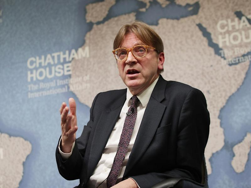 Guy Verhofstadt said it was 'nonsense' to suggest the election would Theresa May a stronger hand during Brexit negotiations: Getty