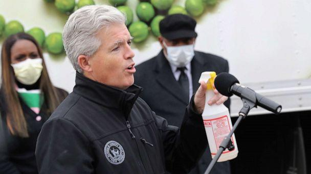 PHOTO: Suffolk County Executive Steve Bellone addresses the media, May 08, 2020 in Massapequa, New York. (Bruce Bennett/Getty Images, FILE)