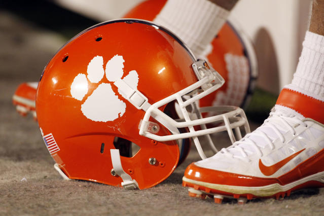 Nearly 40 Clemson football players have tested positive for coronavirus. (AP Photo/Bob Leverone, File)