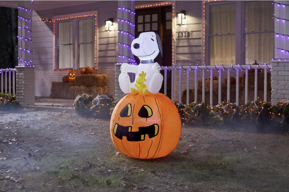 Let Snoopy and Woodstock cheer up your Halloween house. (Photo: The Home Depot)