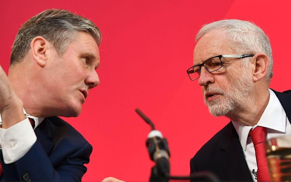 Keir Starmer and Jeremy Corbyn - BEN STANSALL /AFP