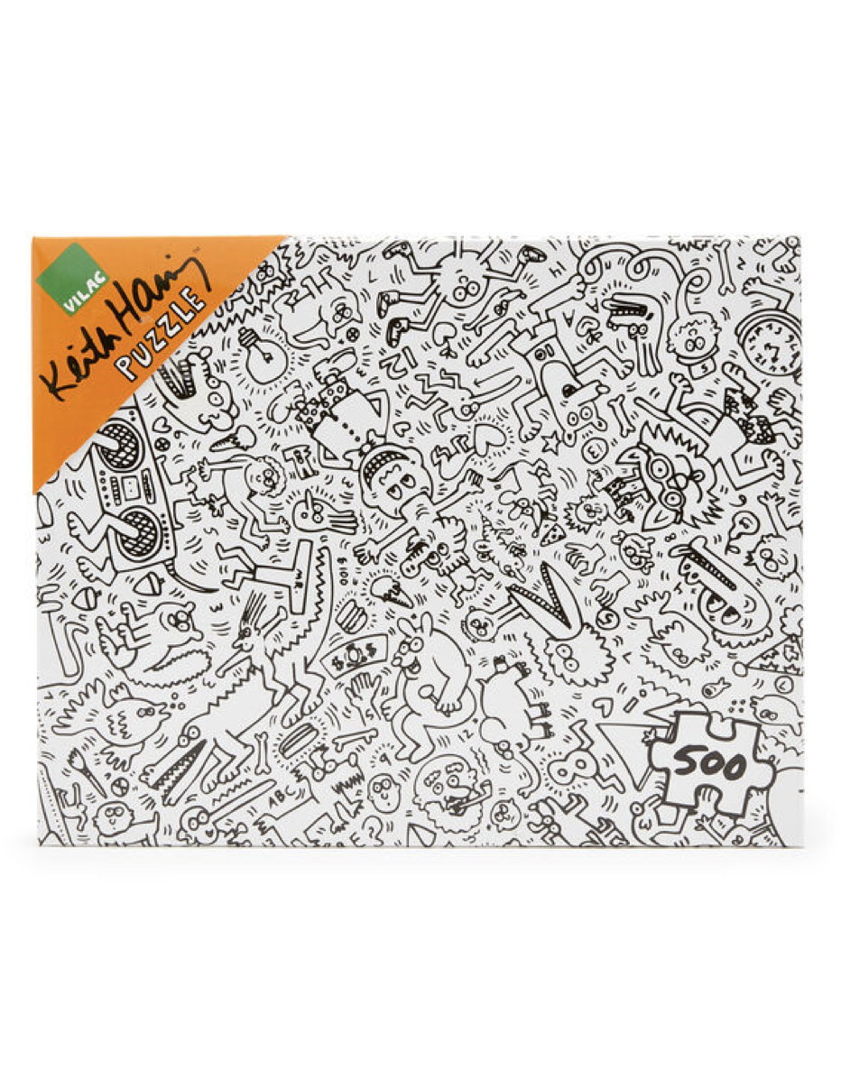 """$35, MoMA Design Store. <a href=""""https://store.moma.org/kids/toys-games/keith-haring-jigsaw-puzzle---500-pieces/10482-149269.html"""" rel=""""nofollow noopener"""" target=""""_blank"""" data-ylk=""""slk:Get it now!"""" class=""""link rapid-noclick-resp"""">Get it now!</a>"""