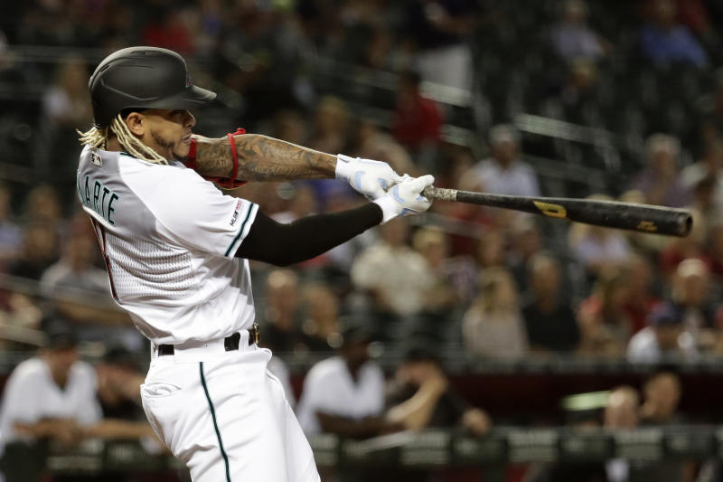 D-backs' All-Star Marte out for season with back injury