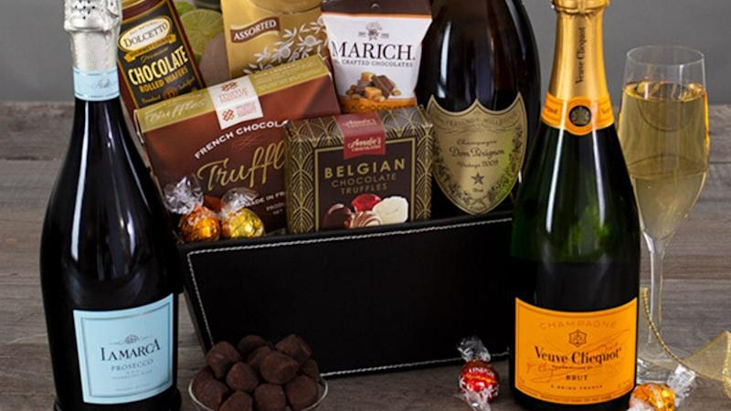 Best gifts for wine lovers 2019: Champagne and truffles gift basket