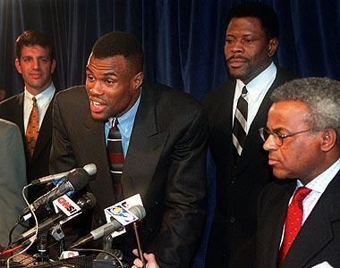 David Robinson, Patrick Ewing and the rest of the league's players saw the 1998-99 season shortened to 50 games by a lockout