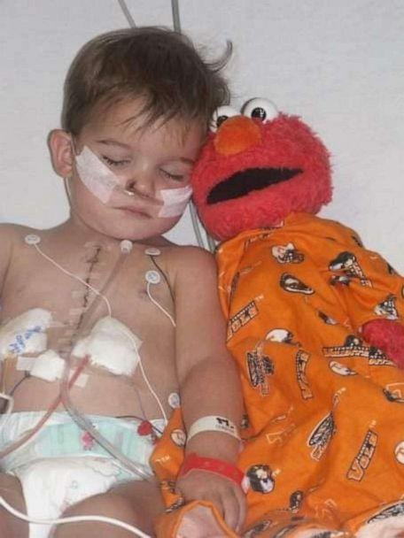 PHOTO: Candy Scarbrough (Candy Scarbrough's son, Tucker, with his beloved Elmo. )