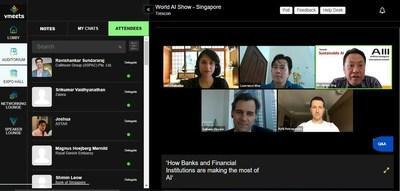 (An image from World AI Show Singapore's BFSI panel discussion that was streamed live on 16 October 2020)