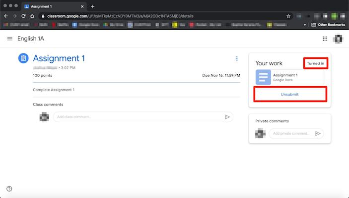 How to submit an assignment in Google Classroom   8
