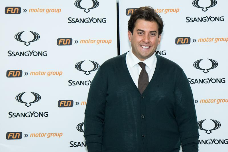 DARWEN, ENGLAND - NOVEMBER 29: James Argent attends the launch of the Ssangyong Musso pick up at Fun Motor Group on November 29, 2018 in Darwen, England. (Photo by Carla Speight/Getty Images)