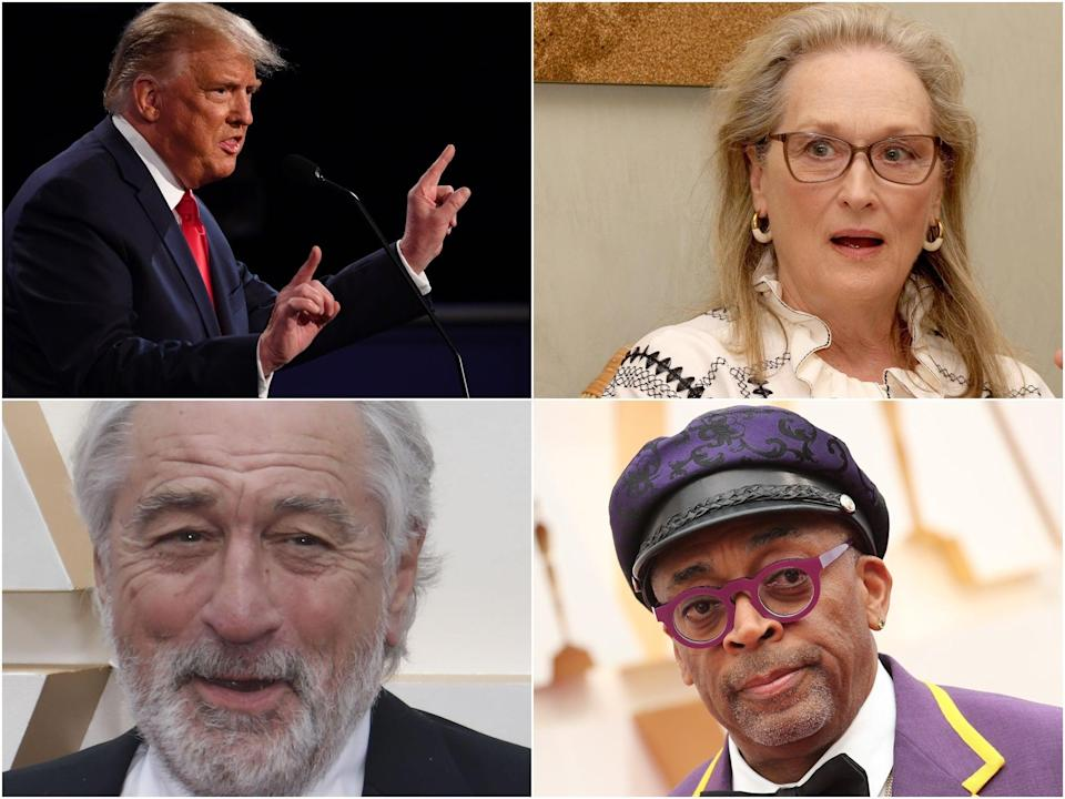 Trump has feuded with a number of Hollywood figures since he was elected (Rex Features)