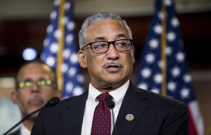 UNITED STATES - JULY 24: Rep. Bobby Scott, D-Va., speaks during the House Democrats news conference in the Capitol to unveil their debt-free college plan on Tuesday, July 24, 2018. (Photo By Bill Clark/CQ Roll Call)
