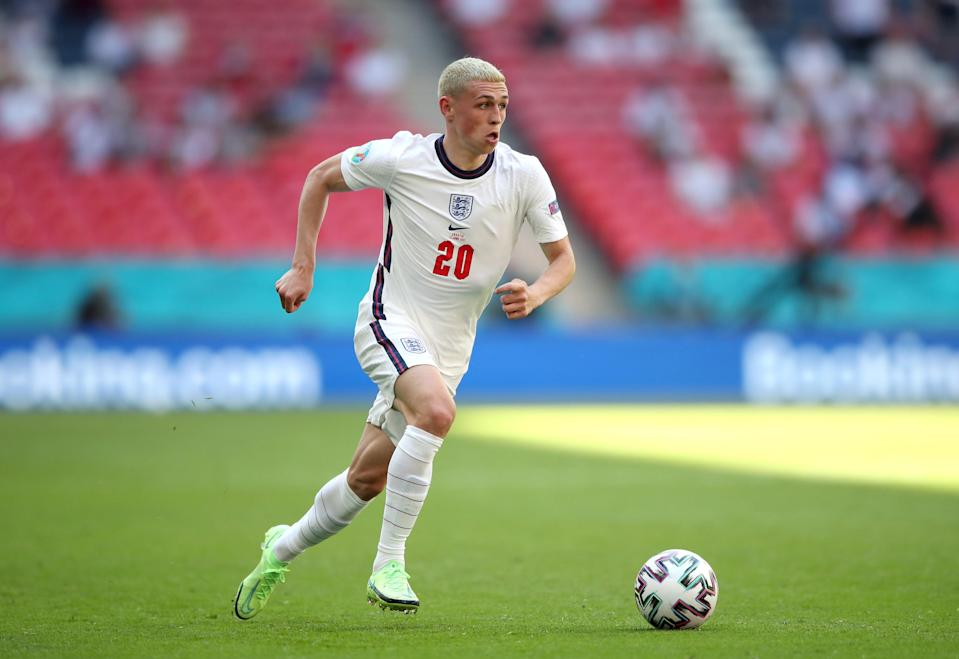 England's Phil Foden during the UEFA Euro 2020 Group D match at Wembley Stadium, London (PA Wire)