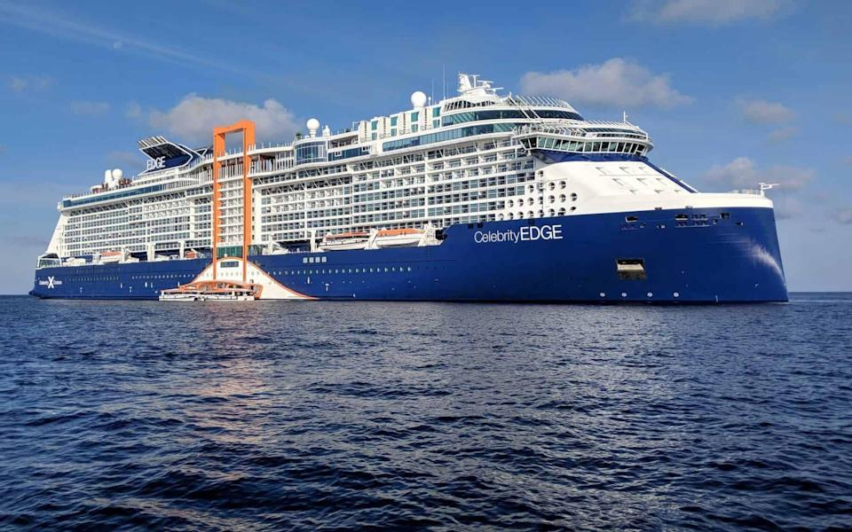 Celebrity Edge cost US$1 billion to build and can carry almost 3,000 passengers