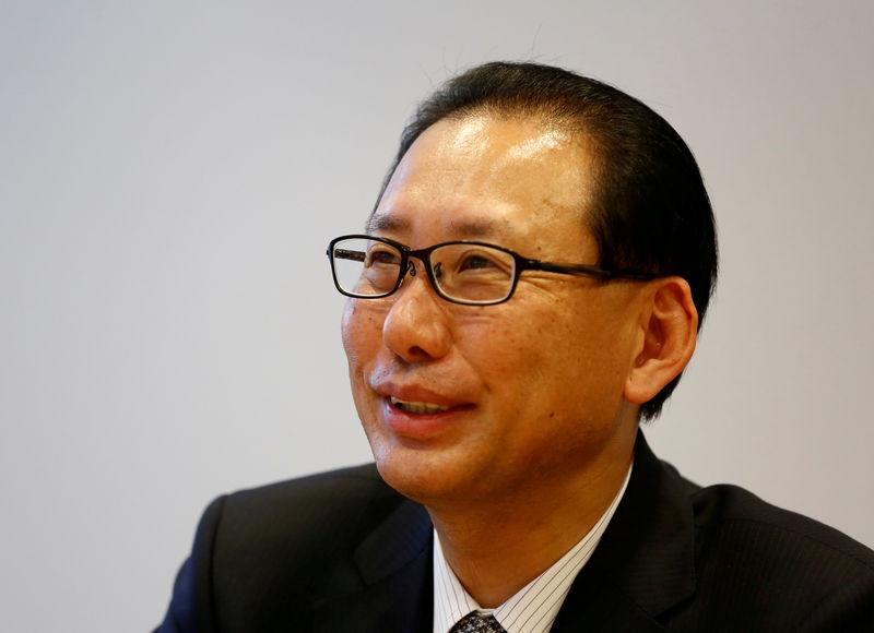 FILE PHOTO: Nomura Securities president Toshio Morita speaks at an interview with Reuters in Tokyo