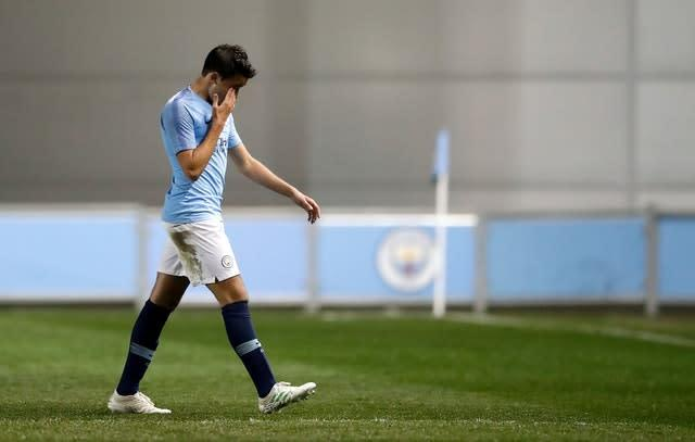 Could Eric Garcia leave Manchester City? (Martin Rickett/PA)