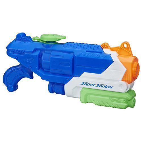 """<p><strong><em>Nerf Super Soaker Breach Blast</em></strong><strong><em>, $18</em></strong> <a class=""""link rapid-noclick-resp"""" href=""""https://www.amazon.com/Nerf-Super-Soaker-Breach-Blast/dp/B011MIXMG2/?tag=syn-yahoo-20&ascsubtag=%5Bartid%7C10050.g.35033504%5Bsrc%7Cyahoo-us"""" rel=""""nofollow noopener"""" target=""""_blank"""" data-ylk=""""slk:BUY NOW"""">BUY NOW</a></p><p>Originally called the Power Drencher, the first Super Soaker went on sale in 1990, and the toy has since generated over $1 billion in sales. Beware, though — the pressurized water gun lives up to its name. </p>"""