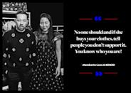 """<p>Humberto Leon made his thoughts on dressing Melania Trump very clear in a <a href=""""https://www.facebook.com/humberto.leon.543/posts/10154715044394161?pnref=story"""" rel=""""nofollow noopener"""" target=""""_blank"""" data-ylk=""""slk:Facebook post"""" class=""""link rapid-noclick-resp"""">Facebook post</a>: """"No one should and if she buys your clothes, tell people you don't support it. You know who you are!"""" </p>"""
