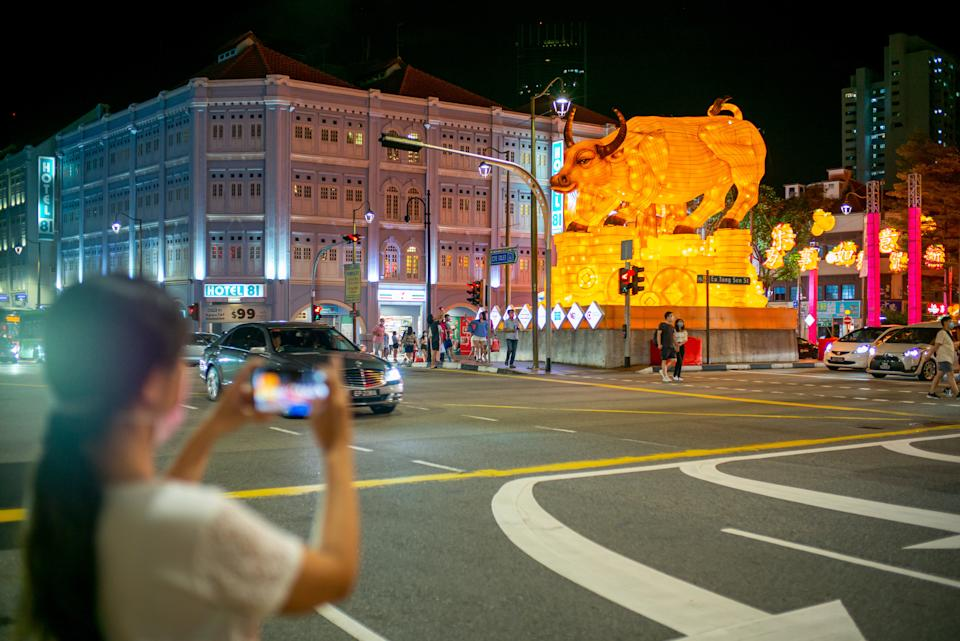 Singapore's Chinatown during the Chinese New Year festive period.