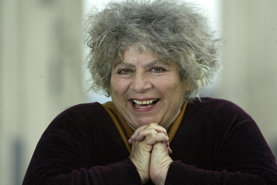 Veteran character actress Miriam Margolyes plays the nanny Miss Prism in The Importance of Being Earnest, opening soon at the Ahmanson. Few know her name, but just about everybody knows her face from her many TV and movie supporting roles and cameos. This photo was taken at the Music Center Plaza.  (Photo by Glenn Koenig/Los Angeles Times via Getty Images)
