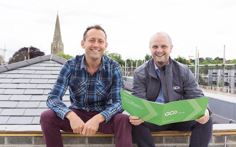 Ed Casson and Oliver Hookway , from Go Homes, have sold the first bitcoin homes in the UK. - cascadenews.co.uk
