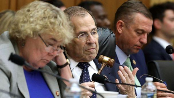 PHOTO: House Judiciary Committee Chairman Jerrold Nadler presides over a hearing in the Rayburn House Office Building on Capitol Hill, May 08, 2019, in Washington. (Chip Somodevilla/Getty Images)