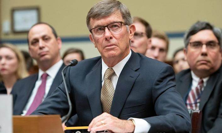 "<span class=""element-image__caption"">Joseph Maguire testifies before the US House on 26 September 2019.<br></span> <span class=""element-image__credit"">Photograph: REX/Shutterstock</span>"