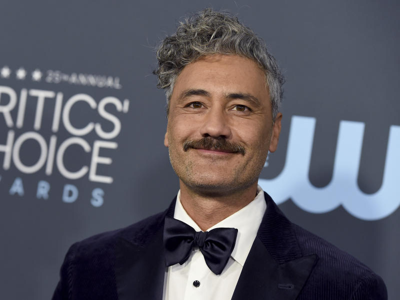 Taika Waititi arrives at the 25th annual Critics' Choice Awards on Sunday, Jan. 12, 2020, at the Barker Hangar in Santa Monica, Calif. (Photo by Jordan Strauss/Invision/AP)
