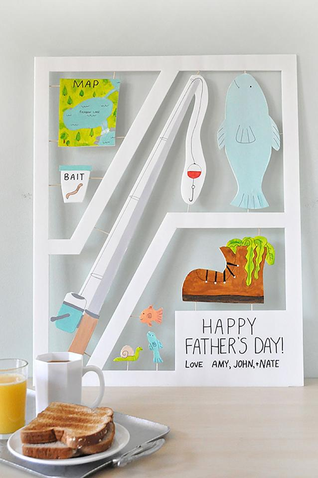 "<p>With this jumbo card that you can personalize, there's no doubt Dad will feel the love on Father's Day. </p><p><strong>Get the tutorial at <a rel=""nofollow"" href=""http://ohhappyday.com/2015/06/giant-fathers-day-card/"">Oh Happy Day</a>. </strong></p><p><strong>What you'll need: </strong>white foam board ($17 for 5, <a rel=""nofollow"" href=""https://www.amazon.com/Pacon-Foam-Board-White-Set/dp/B00IWSHEB0/"">amazon.com</a>); X-acto knife ($6, <a rel=""nofollow"" href=""https://www.amazon.com/X-ACTO-2-Knife-Safety-Cap/dp/B000V1QV7O/"">amazon.com</a>) </p>"