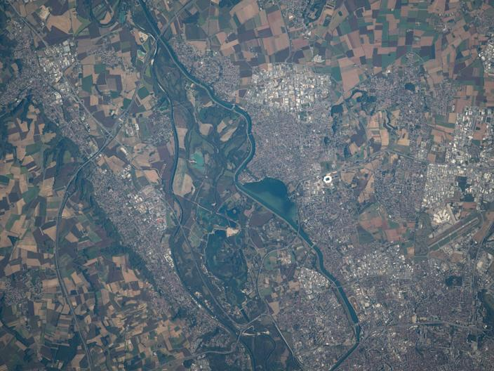 iss space station rhone river