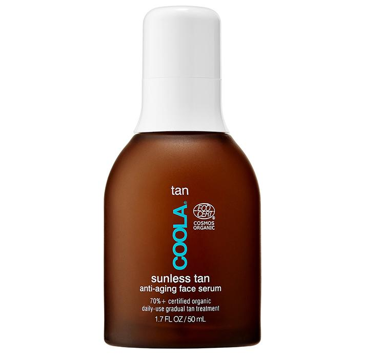 "Coola Organic Sunless Tan Anti-Aging Face Serum, $54; at <a rel=""nofollow"" href=""http://shop.coolasuncare.com/organic-sunless-tan-antiaging-face-serum"">Coola</a>"