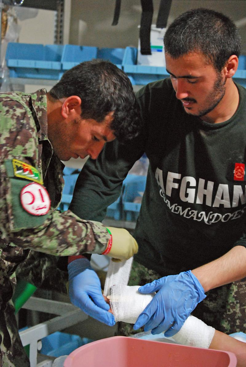 Medical care lags behind Afghan military growth