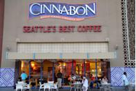 <p>While the idea isn't anything groundbreaking (realtors do this with cookies all the time), Cinnabon realized that baking empty cookie trays coated in their signature sugar and cinnamon mixture can easily sell more product. With many locations inside malls, the smell of their iconic treats can attract any shopper. </p>