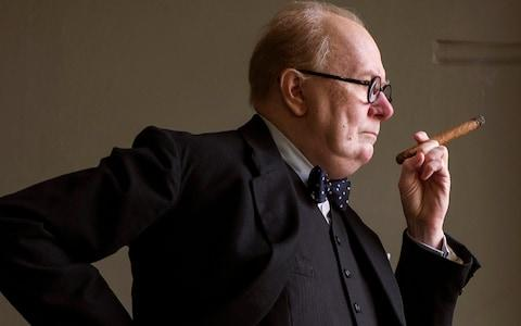 Gary Oldman as Winston Churchill - Credit: Focus Features