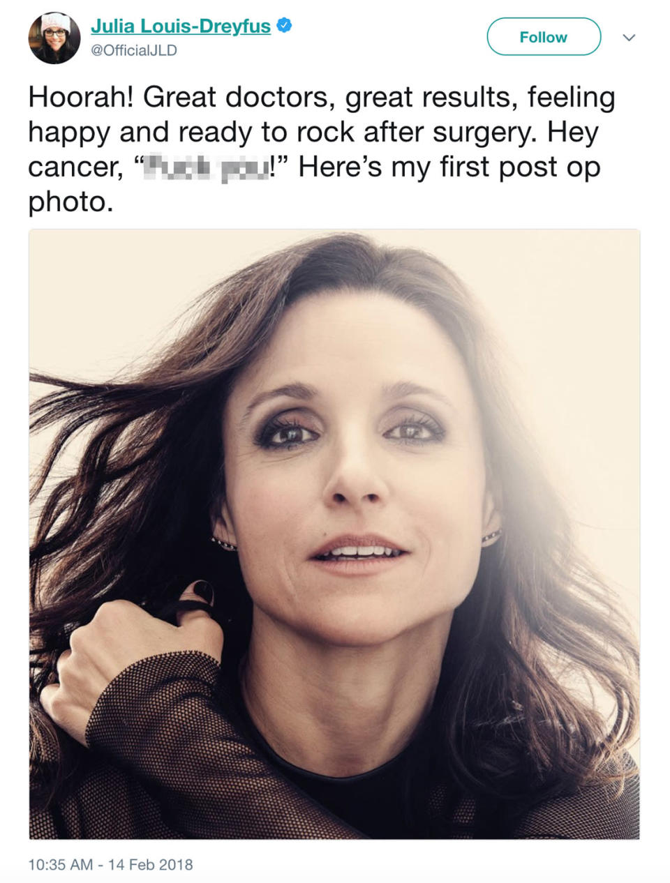 Photo: Julia Louis-Dreyfus via Twitter