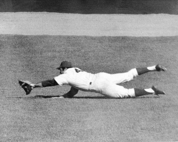 """<p><strong>October 15, 1969</strong>: Ron Swoboda, a weak outfielder with limited range, helped his Miracle Mets win Game 4 of the 1969 World Series thanks to a magnificent catch. """"It's the single greatest play I've ever seen,"""" says Thorn. In the top of the ninth inning, Orioles slugger Brooks Robinson hits a sinking line drive to right field. Swoboda could have badly misplayed it to give the Orioles the lead, but instead he makes the diving catch, rolls over, pops up, and throws home to keep the game tied. """"This is such an implausible candidate for a great catch, and the situation is such that by preserving the tie, he permitted the Mets to go into extra innings and win,"""" Thorn says.<br></p>"""