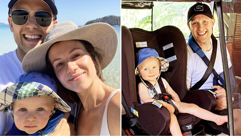 Gary Ablett, wife Jordan and son Levi have been enjoying a family holiday in Queensland after the Geelong Cats legend's recent AFL retirement. Pictures: garyablettjnr/Instagram