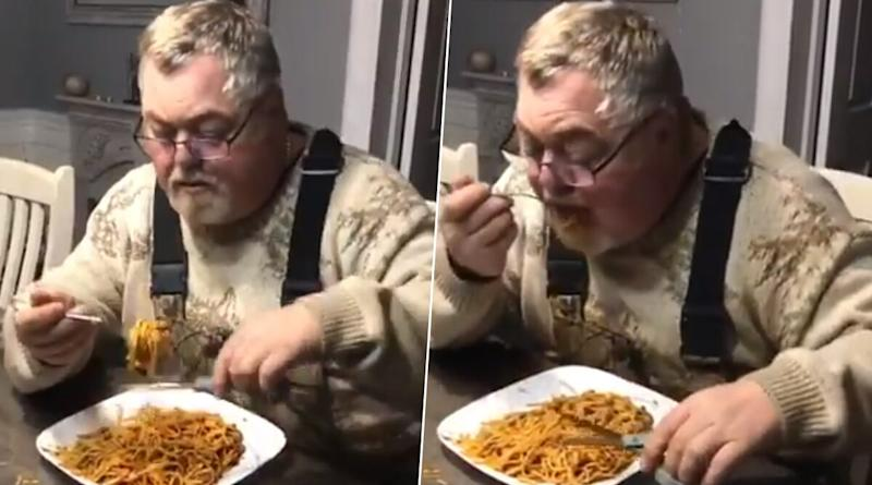 Man Eats Spaghetti by Cutting it With A Pair of Scissors And Internet is Amazed (Watch Video)