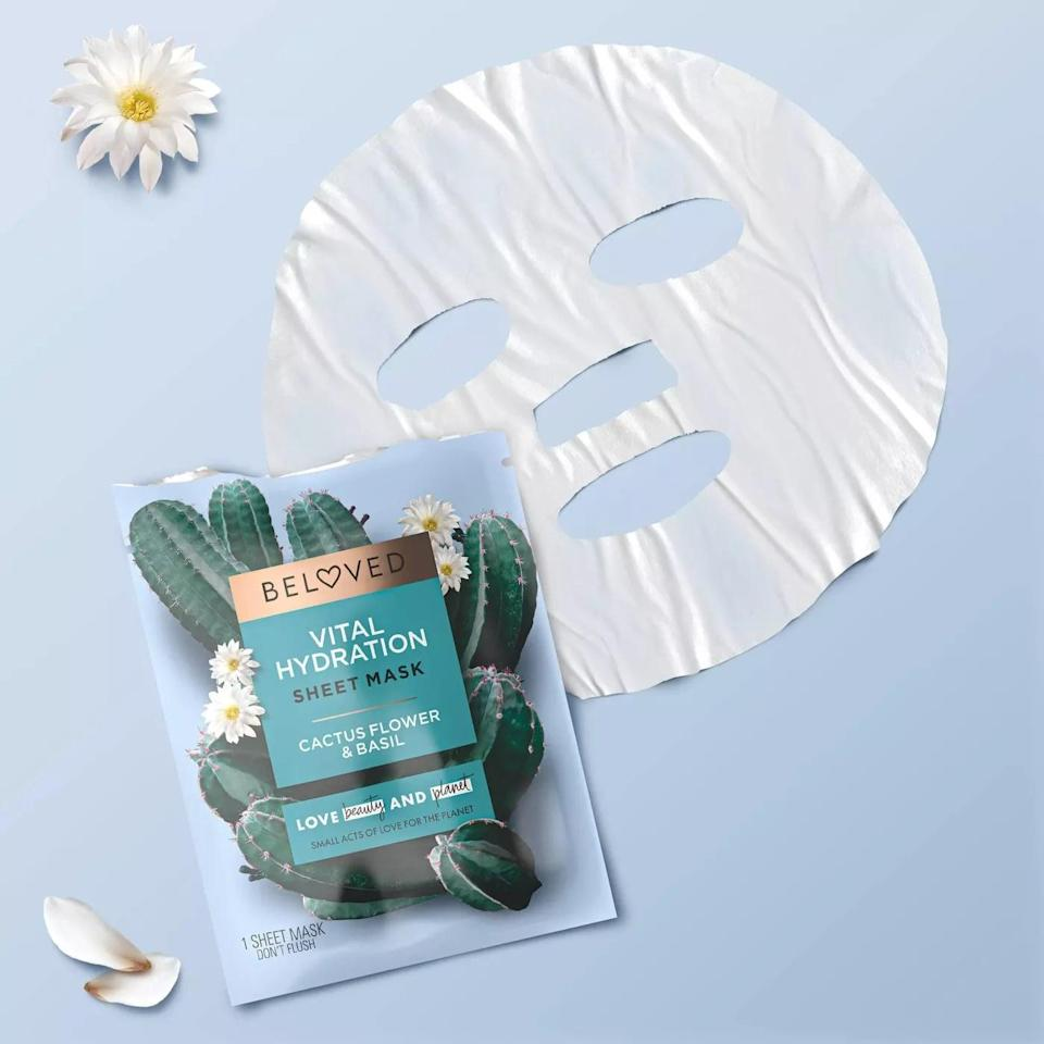 <p>Refresh your skin with the hydrating and calming <span>Love Beauty and Planet Beloved Cactus Flower &amp; Basil Face Mask</span> ($4).</p>