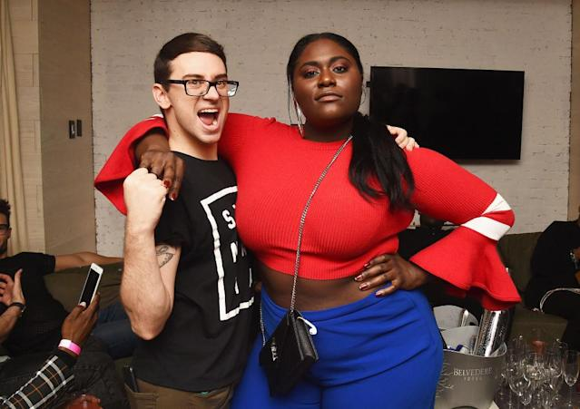 "<p>Designer Christian Siriano and actress Danielle Brooks attend the after-party for his presentation at <a href=""https://www.yahoo.com/lifestyle/tagged/nyfw/"" data-ylk=""slk:New York Fashion Week"" class=""link rapid-noclick-resp"">New York Fashion Week</a>. The <em>Orange Is the New Black</em> star and Siriano both had something to celebrate; she walked in the show. (Photo: Ilya S. Savenok/Getty Images for Belvedere Vodka) </p>"