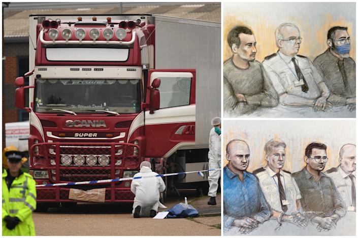 Four people are on trial after 39 migrants were found dead in the back of a lorry. (PA/Elizabeth Cook)