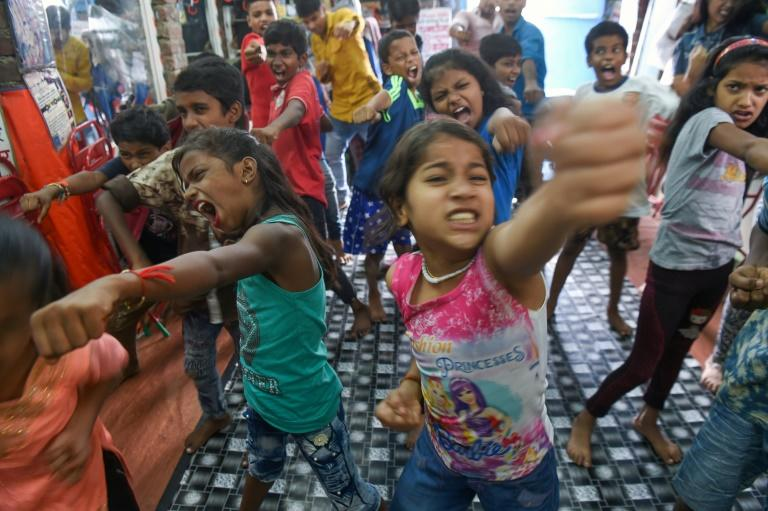 "At Baburao Ladsaheb's ""Five Star Acting Dancing Fighting Classes"" in Mumbai's Dharavi, pupils learn the steps to famous Bollywood dances"