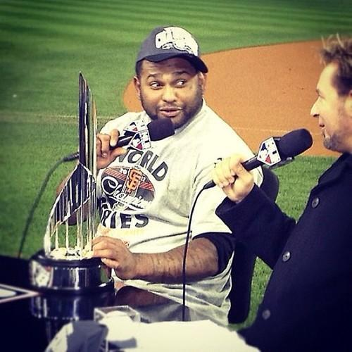 Pablo Sandoval, World Series MVP. Via @kevinkaduk