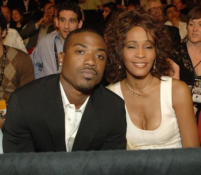 "LAS VEGAS - APRIL 19: Singers Ray-J and Whitney Houston attends the Hopkins vs. Calzaghe ""Battle of The Planet"" in The PH Ring at The Thomas & Mack Center on April 19, 2008 in Las Vegas, Nevada. (Photo by Denise Truscello/WireImage)"