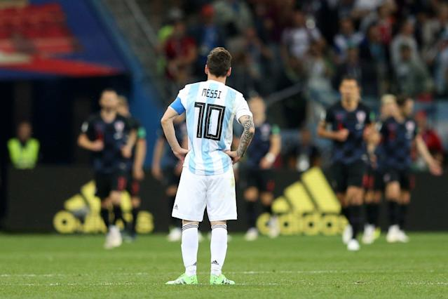 Lionel Messi look on
