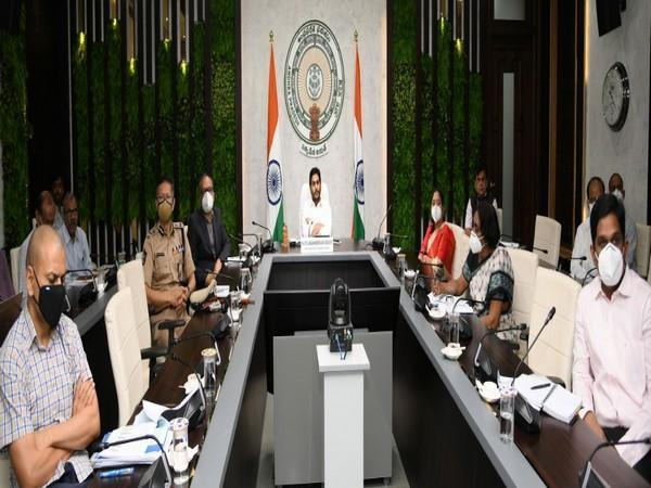 Andhra Pradesh Chief Minister YS Jaganmohan Reddy in the video conference meeting with Union Home Minister Amit Shah