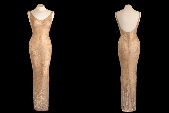 "Image result for Marilyn Monroe's ""Happy Birthday"" dress – $1.3 Million"