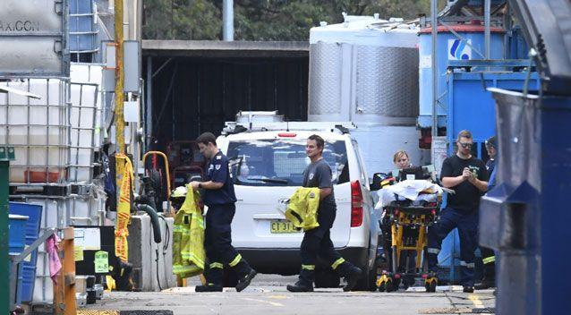 A man has died after becoming trapped in what is believed to be an ink tank at a factory. Photo: AAP