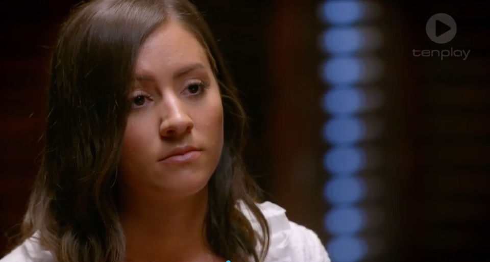The Bachelor's Deanna was quite thrown by the whole lie detector experience. Source: Ten