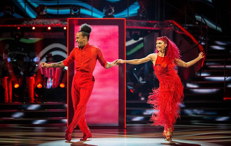 Dev Griffin and Dianne Buswell were voted off Strictly Come Dancing (Photo: BBC)